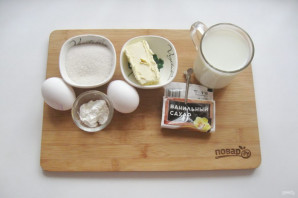 "Крем ""Пломбир"" на молоке - фото шаг 1"