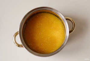 Кукурузная каша с апельсином и имбирем - фото шаг 5