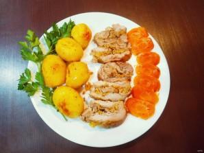 Жаркое из свинины, фаршированное яблоками и клюквой - фото шаг 9