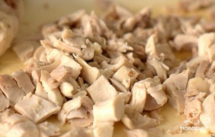 Салат с шампиньонами и курицей - фото шаг 5