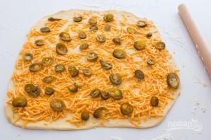 Рулеты с сыром и перцем - фото шаг 2