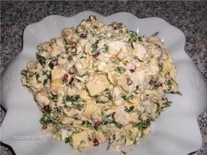 Салат с омлетом и ветчиной - фото шаг 7