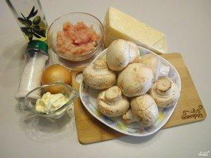 Фаршированные шампиньоны в духовке с сыром - фото шаг 1