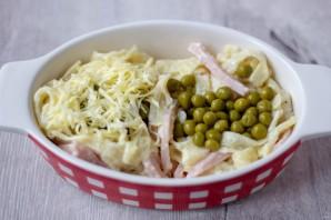 Паппарделле с ветчиной, сыром и зеленым горошком - фото шаг 5
