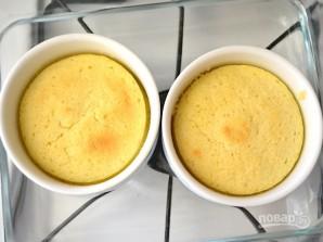 Лимонный пудинг в формочках - фото шаг 7