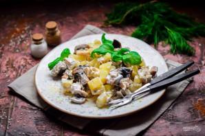 Салат с картошкой, грибами и курицей - фото шаг 6