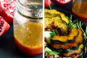 Салат из тыквы и рукколы с орехами и гранатом - фото шаг 4