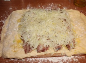 Пирог с сельдью - фото шаг 4