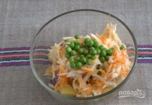Картофельный салат с квашеной капустой - фото шаг 5