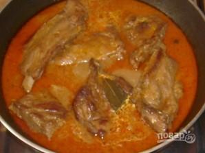 Ребрышки свиные на сковороде - фото шаг 4