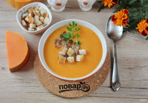 Суп из тыквы с беконом - фото шаг 12