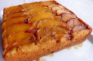 Пирог с персиками и карамелью - фото шаг 8