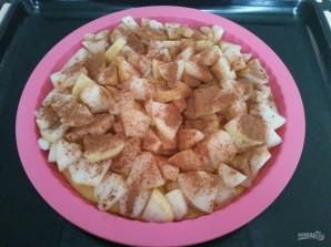Трёхслойный фруктовый пирог с меренгой - фото шаг 6