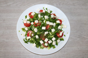 Салат с зелёным болгарским перцем - фото шаг 7