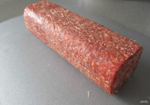 Салат с копчёной колбасой - фото шаг 3