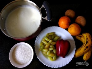 Десерт из фруктов и молока - фото шаг 1
