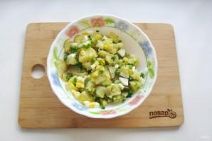 Картофельный салат с зеленым луком - фото шаг 7