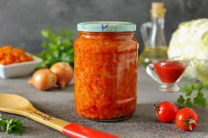 Капуста с томатной пастой на зиму - фото шаг 9
