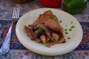 Куриные бедра с яблоком и изюмом - фото шаг 7