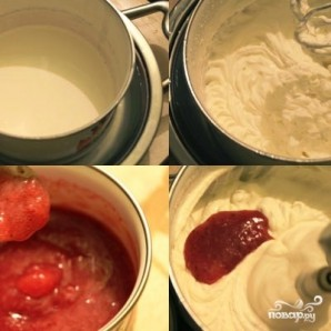 Кокосово-клубничное пирожное - фото шаг 7