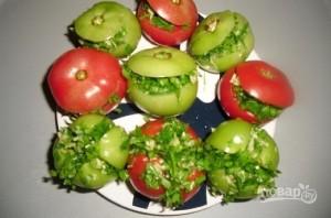Малосольные помидоры по-армянски с чесноком - фото шаг 3