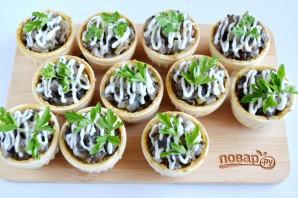Тарталетки с паштетом и грибами - фото шаг 7