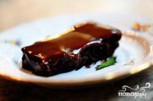 Шоколадные пирожные в глазури - фото шаг 6