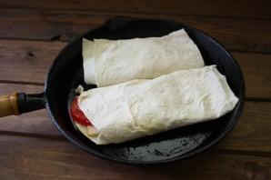 Лаваш с копченым сыром - фото шаг 7