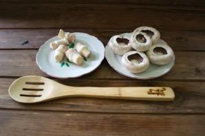 Начиненные грибы в духовке - фото шаг 1