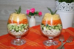 Салат с корейской морковкой, курицей и яйцом - фото шаг 8