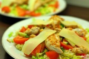 Теплый салат с курицей - фото шаг 8