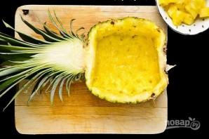 Салат с куриным филе, ананасом и зеленой фасолью - фото шаг 3