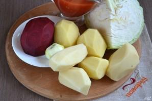 Борщ вегетарианский диетический - фото шаг 1