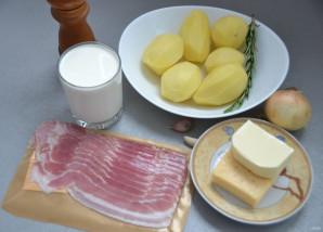 Картофельный гратен с беконом - фото шаг 1
