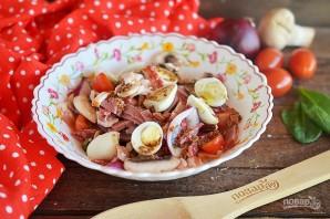 Сытный мясной салат - фото шаг 6