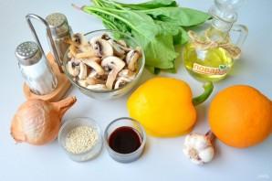 Салат со шпинатом, грибами и апельсинами - фото шаг 1