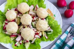 Салат с сырными шариками - фото шаг 9