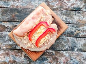 Куриные рулетики с сыром и перцем - фото шаг 3