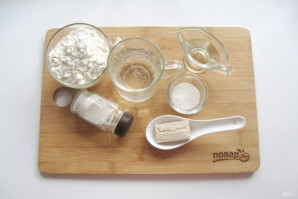 Дрожжевое тесто для чебуреков - фото шаг 1