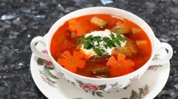 Быстрый овощной суп со свининой - фото шаг 8
