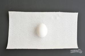 Радужные яйца на Пасху - фото шаг 1
