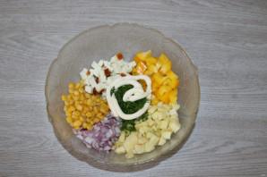 Салат с яблоком и болгарским перцем - фото шаг 5