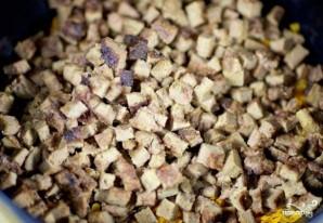 Салат с жареной печенью - фото шаг 8