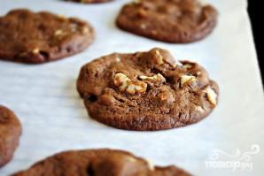 Шоколадное печенье с орехами - фото шаг 3