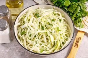 Салат с капустой и кинзой - фото шаг 5