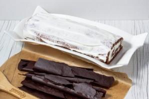 Шоколадный бисквитный рулет - фото шаг 20