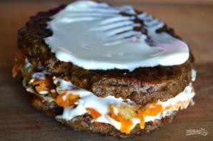 Печеночный торт с луком и морковью - фото шаг 14