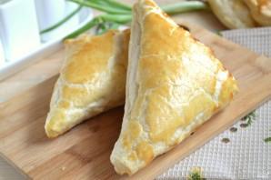 Хачапури с сыром из слоеного теста - фото шаг 6