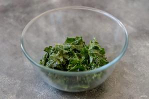 Салат с брюссельской капустой и стручковой фасолью - фото шаг 4