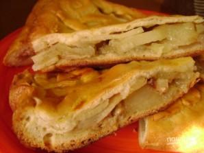 Пирог из пирожкового теста в духовке - фото шаг 6
